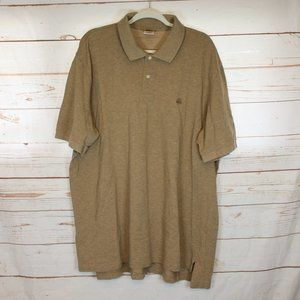 Brooks Brothers Performance Polo XXL Cotton Tan